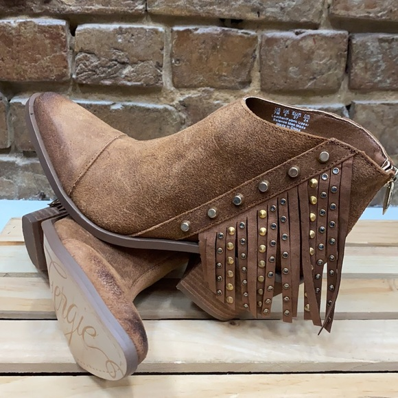 Fergie Fringed Distressed Booties